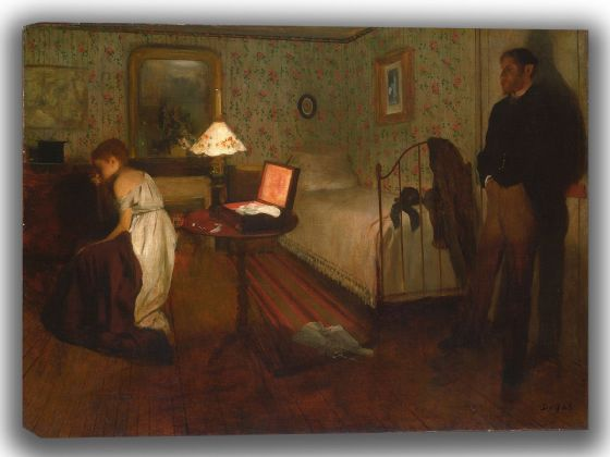 Degas, Edgar: Interior. Fine Art Canvas. Sizes: A4/A3/A2/A1 (003750)